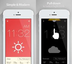 Red Clock (Alarm & Weather):  Another Gorgeous Clock app for your iPhone and iPad