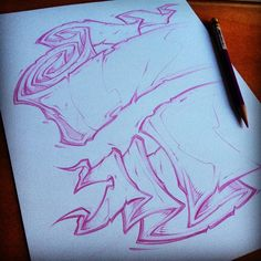 Sketching some elements for a new clothing line #absorb81 #art #illustration…
