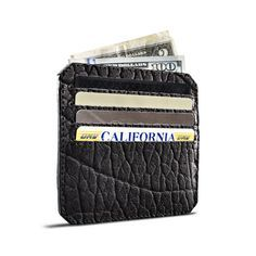 Easily slipped into your front or back pocket, our Parabellum 4 Slot Wallet almost magically accommodates all of your daily wallet essentials while still maintaining its uniquely svelte form.