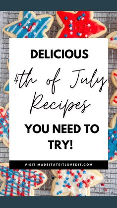 Easy Fourth Of July Recipe, Fourth Of July Food, 4th Of July Celebration, July 4th, Almond Joy Cookies, Different Holidays, Food Preparation, Holiday Recipes, Yummy Food