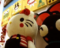 Erin Paisley - Hello Kitty and Chococat- Crocheted Plush by crowdedteeth, via Flickr