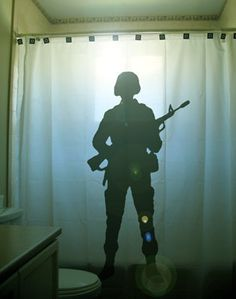 Soldier Shower Curtain Hero Army Armed by CustomShowerCurtains, $68.00 .Christmas ideas