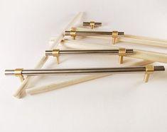 Brass Hammer handles pulls for Cabinet bar pulls Knobs Modern | Etsy Antique Drawer Pulls, Cabinet And Drawer Pulls, Knobs And Pulls, Door Pull Handles, Brass Handles, Brass Cabinet Hardware, Cabinet Knobs, Modern Drawers, Small Bathroom
