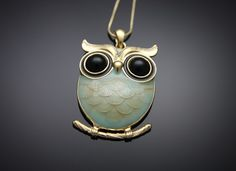 Owl Necklace -- Love it.  Want it. After all, KD thinks I might be Athena....