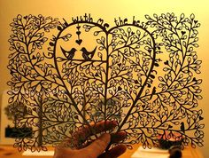 Romantic Paper Cutting by all things paper, via Flickr