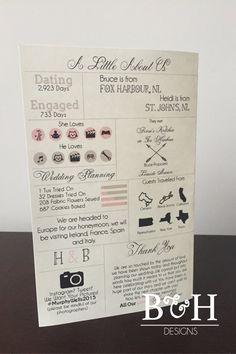 Printable Custom Info Graphic Wedding Program by BandHDesign