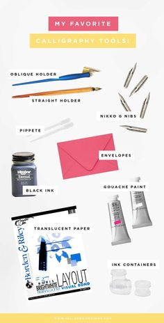 Starting out with calligraphy? Here are my favorite calligraphy tools just for beginners and how they work + tips!