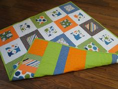 Simple Modern Baby Quilt
