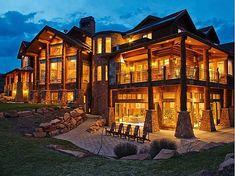 Log Mansions | 15,000 Square Foot Utah Mansion | Mansions & More