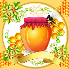 honey bee clip art Honeycomb | Bees Honeycomb and Honey Products 4 | Free Vector Graphic Download