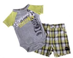 Amazon.com: Hurley Baby Boys Short Sleeve Bodysuits & Short Pant: Baby