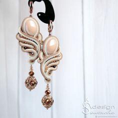Bead Jewellery, Beaded Jewelry, Jewelery, Beaded Bracelets, Soutache Necklace, Lace Earrings, Fashion Earrings, Fashion Jewelry, Earrings Handmade
