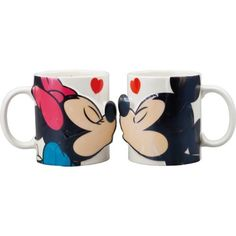 Disney Mickey Mouse & Minnie Mouse mug pair kiss SAN2148 (japan import):Amazon:Kitchen & Dining