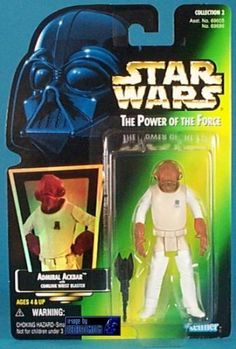1997 Hasbro Star Wars Admiral Ackbar Figure - w/ Comlink Wrist Blaster by Hasbro. $6.66. Admiral Ackbar Action Figure. Includes Comlink Wrist Blaster. Limited Edition. Collection 2. Star Wars - 1997 - Kenner - Power of the Force. * Star Wars - 1997 - Kenner - Power of the Force  * Admiral Ackbar Action Figure  * Includes Comlink Wrist Blaster  * Collection 2  * Limited Edition