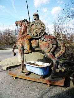 The horse from Black Dog Salvage, as in the HGTV show Salvage Dawgs. // www.rappsodyinrooms.com