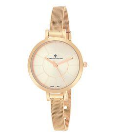 Love this Rose Goldtone Skinny Bracelet Watch on #zulily! #zulilyfinds