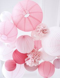Pink palette for a romantic wedding! Many inspirations of colors of lanterns and lanterns in our special guide for a Wedding ros … - Decoration For Home