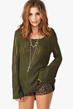 New Wave Knit - Olive $68.00