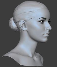 Caucasian Girl Head basemesh, Eugene Fokin on ArtStation at https://www.artstation.com/artwork/xBB2R