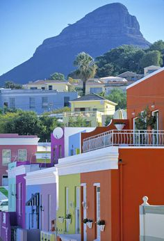Bo-Kaap, Cape Town, South Africa Photographic Print by Peter Adams, Funchal, The Places Youll Go, Places To Go, Le Cap, Cape Town South Africa, Belle Villa, Africa Travel, House Colors, Places To Travel