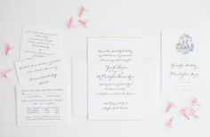 Classic Calligraphy: love the #calligraphy and #handdrawn #crest in these beauties by #magnificentmilestones - Photography by Amanda Hein Photography