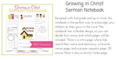 Growing in Christ Sermon Notebook