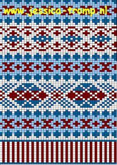 MES FAVORIS TRICOT-CROCHET: Le jacquard Fair Isle Knitting Patterns, Knitting Charts, Knitting Stitches, Knitting Designs, Knit Patterns, Stitch Patterns, Punto Fair Isle, Motif Fair Isle, Fair Isle Chart