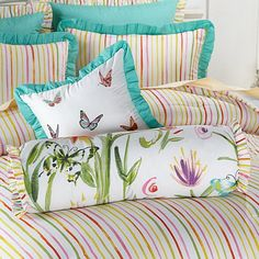 Madcap Cottage Butterfly Garden Decorative Pillows SHOP HSN 2015 THE CINDERELLA COLLECTION