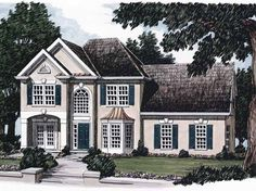 Eplans New American House Plan - Delicate Details - 2053 Square Feet and 3 Bedrooms from Eplans - House Plan Code HWEPL07869