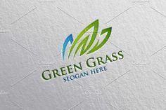 Green Grass, Nature Logo by denayunebgt on @creativemarket