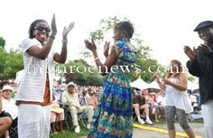Dancing fans at the River Raisin Jazz Festival 2011. Photo by Kim Brent for The Monroe Evening News.