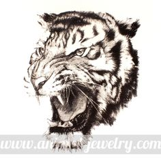 Large Realistic Tiger Animal Print Graphic Tank Top Tee in White