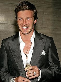 David Beckham.  For no other reason than, well, because he is some serious eye candy.