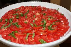 Plum Tomatoes with Fresh Basil