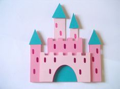 Fun pink castle shaped birthday card for that special Princess! The castle is constructed with various shades of pink card stock. Pink Castle, Princess Castle, Girl Birthday Cards, 4th Birthday, Pink Cards, Pretty Cool, Card Stock, Shapes, Artist