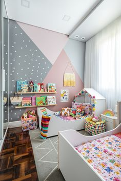 Bedroom Wall Designs, Room Design Bedroom, Room Ideas Bedroom, Kids Room Design, Baby Room Decor, Bedroom Decor, Girls Room Paint, Girl Room, Awesome Bedrooms