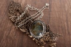 Labradorite Sterling Silver Necklace  by Chase Gilbert @ cgilly.com