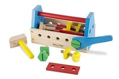 Melissa and Doug Wooden Take Along Tool Kit (24pc) >>> For more information, visit image link.