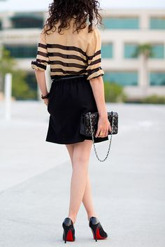 Skirt and silk stripes