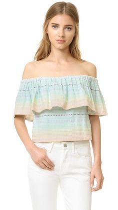 MARA HOFFMAN Piece & Co Gathered Top. #marahoffman #cloth #dress #top #shirt #sweater #skirt #beachwear #activewear