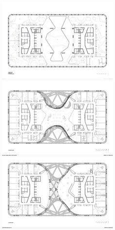 Morpheus Hotel Macauas - City of Dreams - Zaha Hadid Architects - designboom Zaha Hadid Architecture, Architecture Plan, Urban Design Plan, Plan Design, Plano Hotel, Arch Hotel, Arquitectos Zaha Hadid, Resort Plan, Restaurant Plan