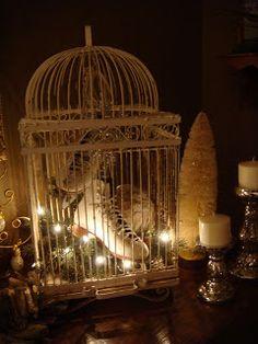 Christmas Birdcage Decor