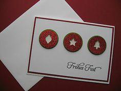 "Stampin Up! - Weihnachtskarte - Nr.51 - rot - ""Frohes Fest""   eBay"