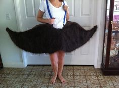mustache costume (the server at Tamarack in Lakeside, MT was rocking this costume on Saturday night)