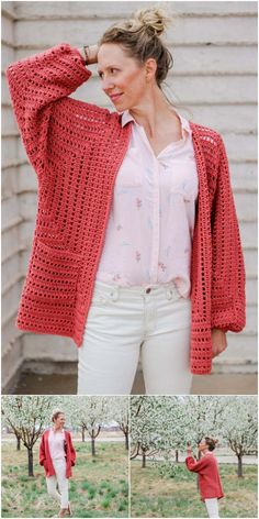 I have gathered a big collection of to make your fall season cozier. # Easy Crafts fall Crochet Cardigan Patterns - Patterns And Ideas - Craft Ideas Beau Crochet, Pull Crochet, Bonnet Crochet, Cardigan Au Crochet, Crochet Beanie Pattern, Crochet Blouse, Big Cardigan, Crochet Sweaters, Crochet Cardigan Pattern Free Women