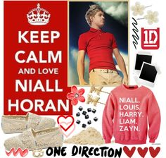 """Keep Calm and Love Niall Horan♥"" by peace100 ❤ liked on Polyvore"