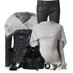 """""""The Shearling Jacket"""" by lbite1 on Polyvore"""