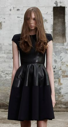 Scanlan Theodore Scuba Leather Dress