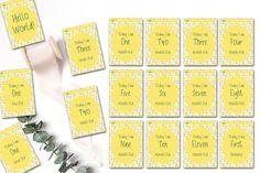 First Year Milestone Cards Baby Milestone Cards Milestone