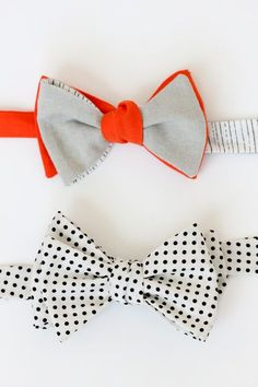 cute DIY mix and match bow ties - with a free pattern and tutorial. I cant wait to make some of theses for Brett
